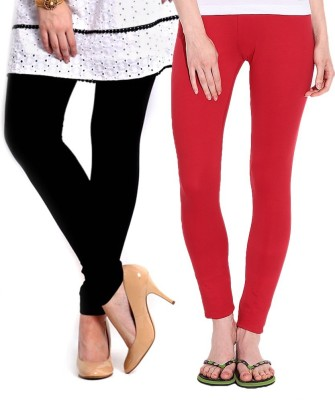 KANNAN Women's Black, Red Leggings