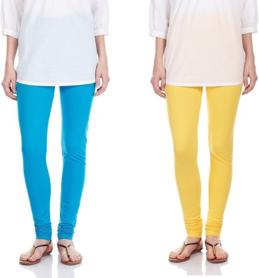 SRS Women's Light Blue, Yellow Leggings