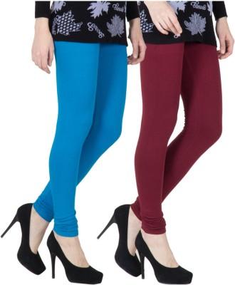 VERMELLO Women's Blue, Maroon Leggings