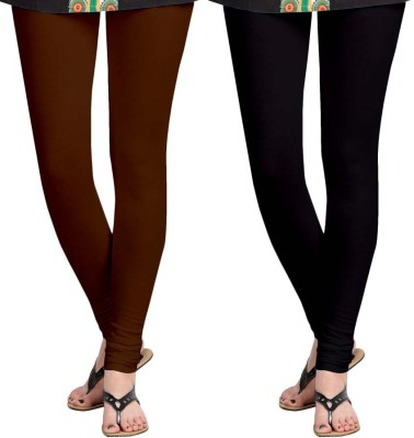 Roshni Creations Women's Brown, Black Leggings