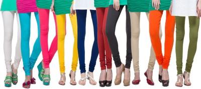 APSN Retail Women's Black, Blue, Light Green, Purple, Yellow, Red, Light Blue, Brown, Beige, Dark Green Leggings