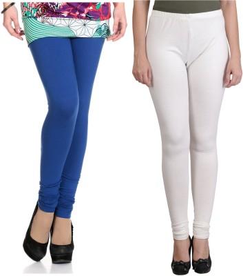 Ahhaaaa Women's Blue, White Leggings