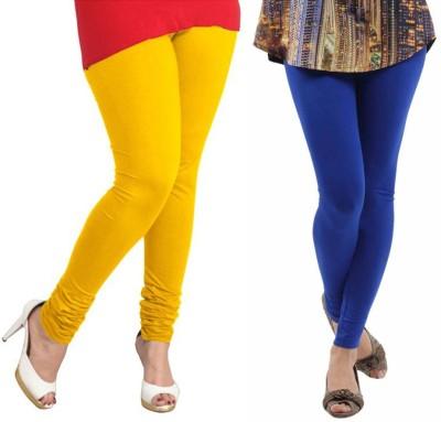VP Vill Parko Women's Yellow, Blue Leggings