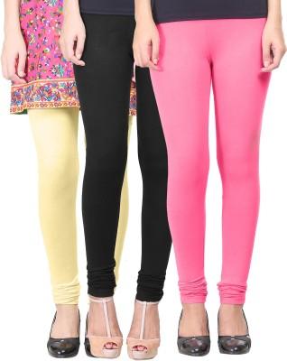 Eshelle Women's Black, Pink, Yellow Leggings