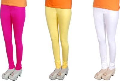 Radhika Garments Women's Pink, Yellow, White Leggings