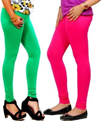 By The Way Women's Green, Maroon Leggings