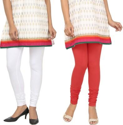 Agrima Fashion Women's White, Red Leggings