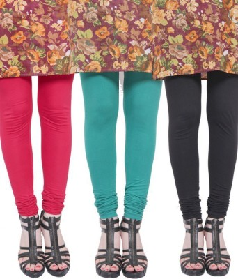 StyleJunction Women,s Black, Light Blue, Red Leggings