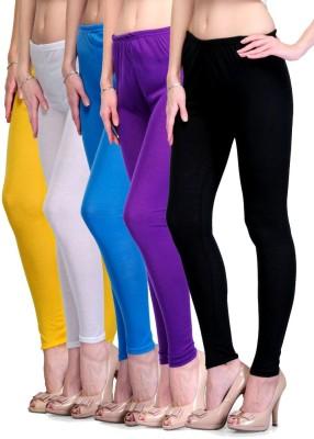 Rowena Women's Yellow, White, Light Blue, Purple, Black Leggings