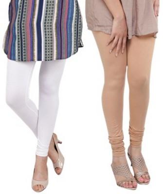 Bembee Women's Beige, White Leggings
