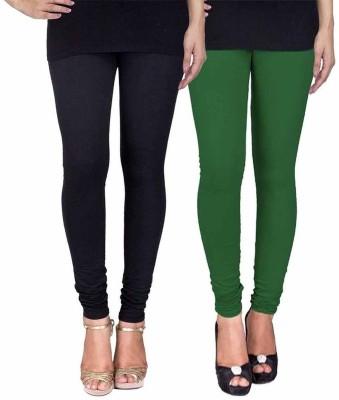 Ayesha Fashion Women's Black, Green Leggings