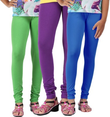 Greenwich Baby Girls Green, Purple, White Leggings