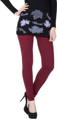 VERMELLO Women's Maroon Leggings