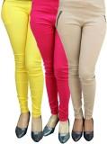 Magrace Women's Beige, Yellow, Pink Jegg...