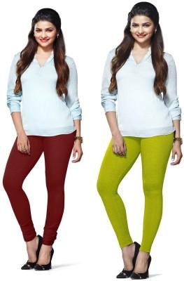 Amul Florio Women's Maroon, Light Green Leggings