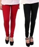 CP Bigbasket Women's Red, Black Leggings...