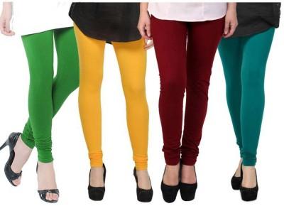 Fashion Zilla Women's Green, Yellow, Maroon, Blue Leggings
