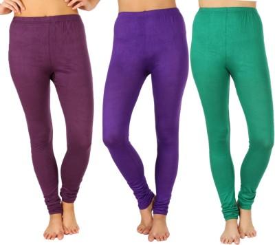 SLS Women's Purple, Purple, Green Leggings