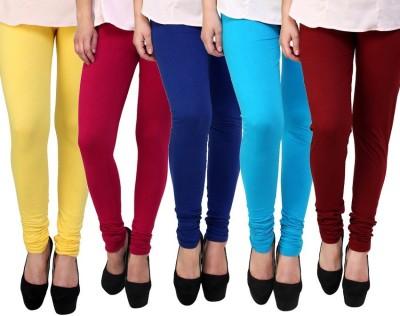Myra Softwear Women's Yellow, Pink, Blue, Light Blue, Maroon Leggings
