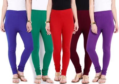 Ten on Ten Women's Purple, Maroon, Red, Green, Blue Leggings
