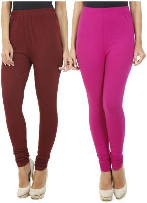 HiFi Women's Maroon, Pink Leggings