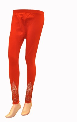 La Vastraa Women's Red Leggings