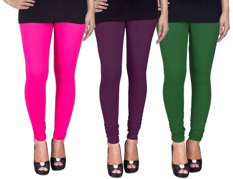 C&S Shopping Gallery Women's Multicolor Leggings(Pack of 3)