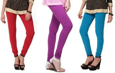 Angel Soft Women,s Red, Purple, Light Blue Leggings