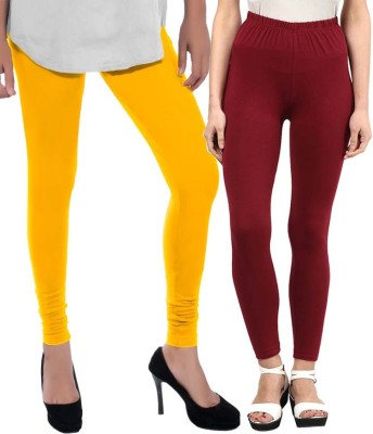 Sampoorna Collection Women's Yellow, Maroon Leggings