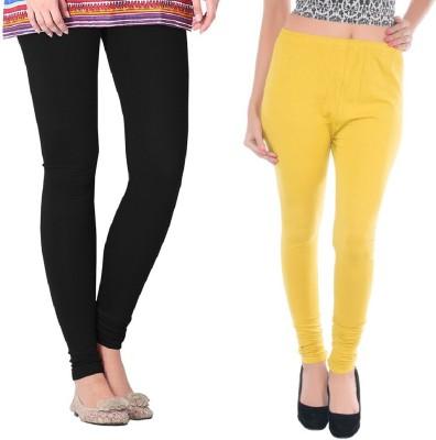 Colors More Women's Black, Yellow Leggings
