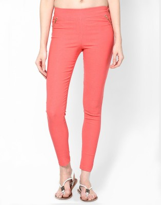 Royal Women's Orange Jeggings