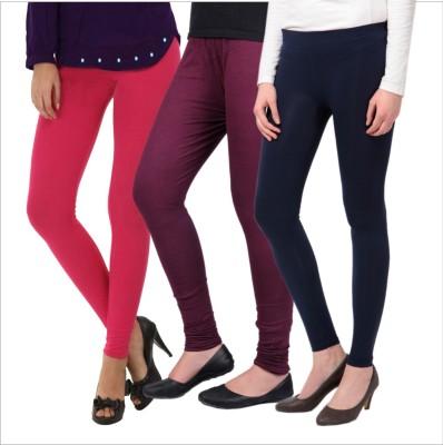 Melisa Women's Pink, Purple, Black Leggings