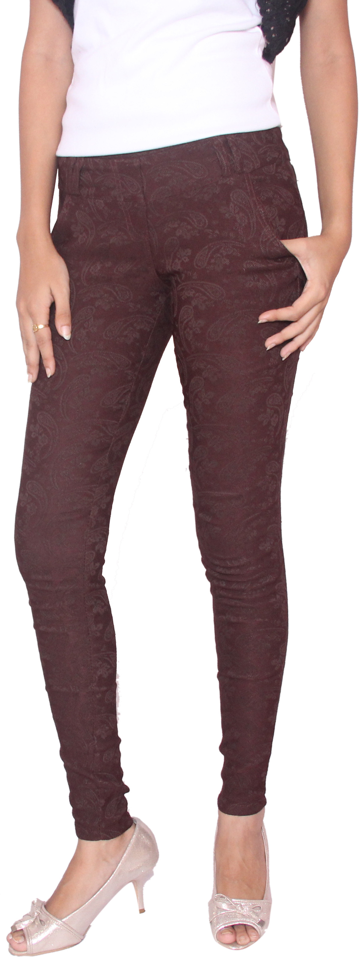 Fungus Womens Brown Jeggings