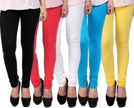 Adolf Fashion Women's Multicolor Leggings(Pack of 5)