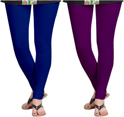 ZACHARIAS Women's Blue, Purple Leggings
