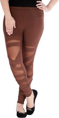 Caricature Clothing Women,s Brown Leggings