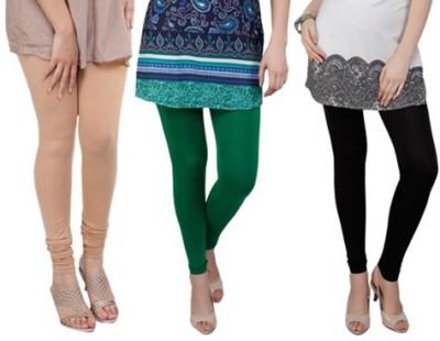 Prekrasna Women,s Gold, Green, Black Leggings