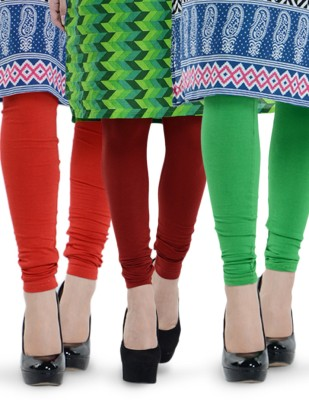 Tjaggies Women's Red, Light Green, Maroon Leggings