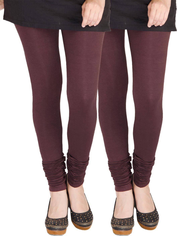 Medoo Womens Brown Leggings(Pack of 2)