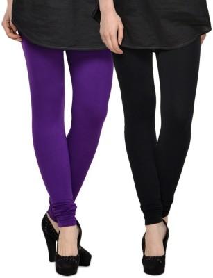 NOVA TRENDZZ Women's Black, Purple Leggings