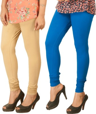 Berries Women's Beige, Blue Leggings