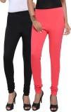 Fascino Women's Black, Pink Leggings (Pa...
