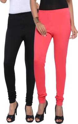 Fascino Women's Black, Pink Leggings