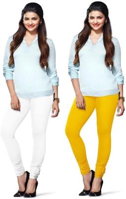 Amul Florio Women's White, Yellow Leggings
