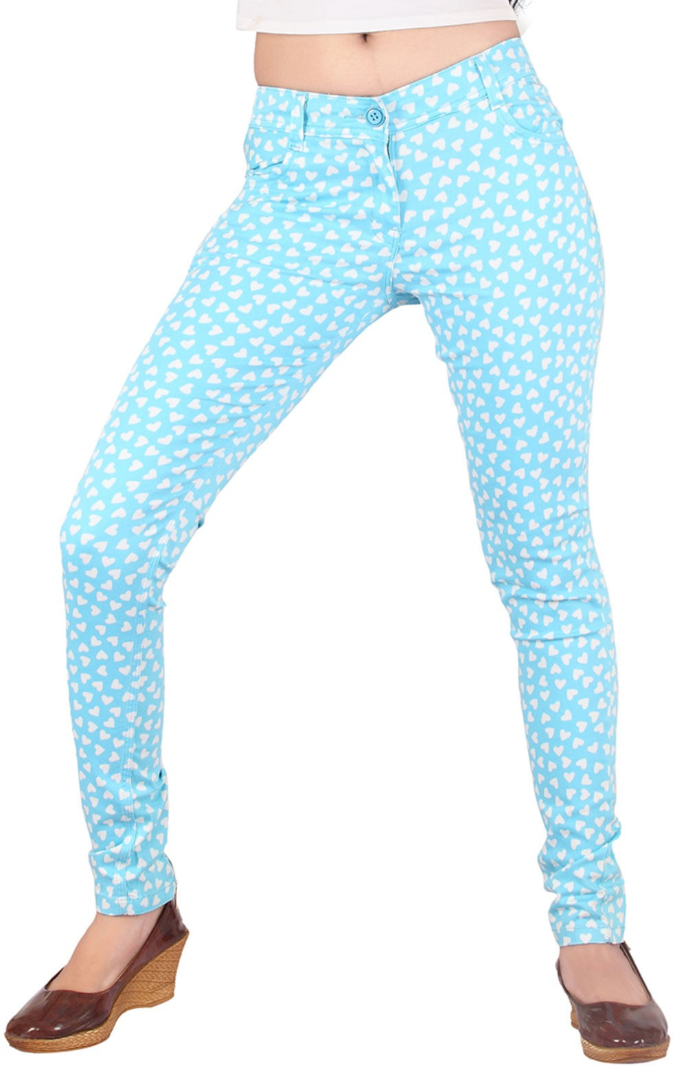 Inddus Womens Blue Jeggings