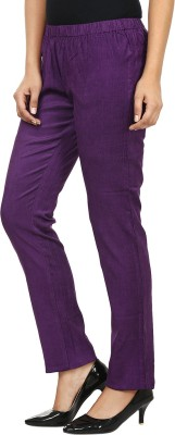 Fashion Cult Women's Purple Jeggings