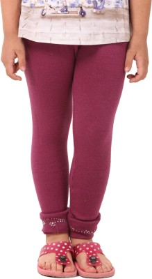 Vostro Moda Girl's Purple Leggings
