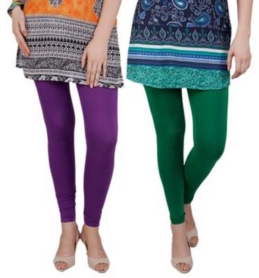 Bembee Women's Purple, Green Leggings