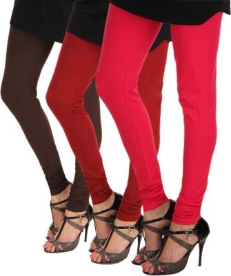 Itnol International Women's Brown, Maroon, Pink Leggings