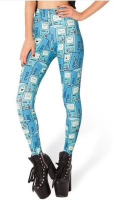 Glam Quotient Women's Blue Leggings